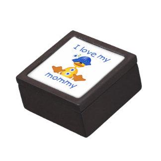 Amo a mi mamá el pato del chica cajas de joyas de calidad