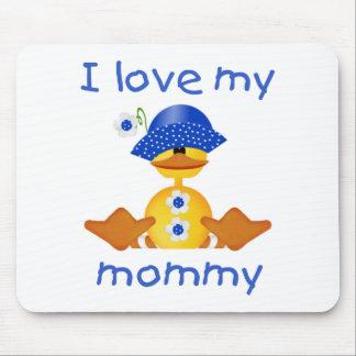 Amo a mi mamá (el pato del chica) tapetes de ratones