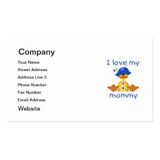 Amo a mi mamá (el pato del chica) tarjetas de visita