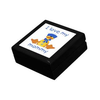 Amo a mi mamá el pato del muchacho caja de regalo