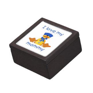 Amo a mi mamá el pato del muchacho caja de regalo de calidad