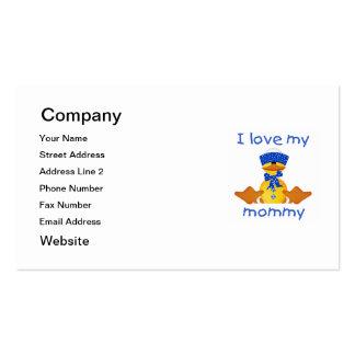 Amo a mi mamá (el pato del muchacho) tarjetas de visita
