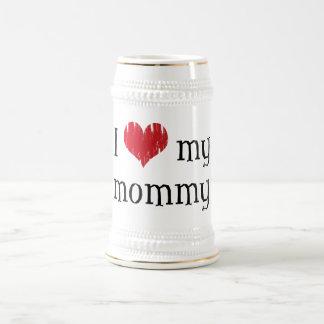 Amo a mi mamá jarra de cerveza
