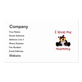 Amo a mi mamá (la mariquita del chica) tarjetas de visita