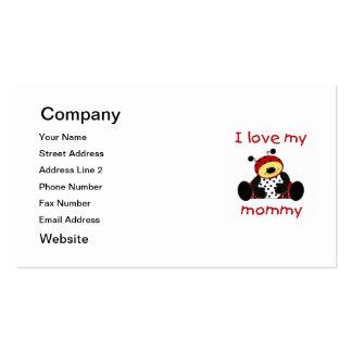 Amo a mi mamá (la mariquita del muchacho) tarjetas de visita