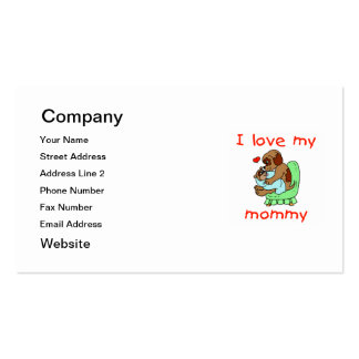 Amo a mi mamá (los perritos) tarjetas de visita