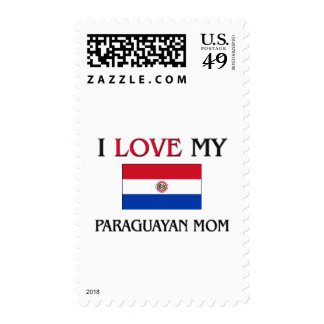 Amo a mi mamá paraguaya sellos