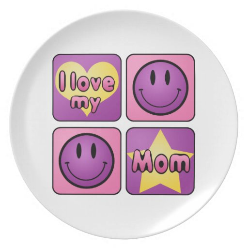 Amo a mi mamá plato de cena