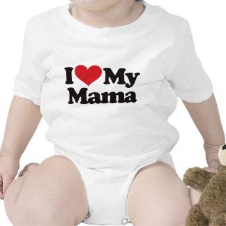 Amo a mi mamá traje de bebé