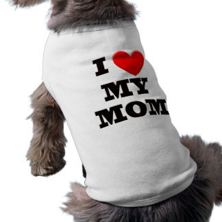 Amo a mi mamá playera sin mangas para perro