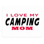 Amo a mi mamá que acampa postal