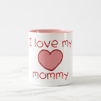 Amo a mi mamá taza de dos tonos