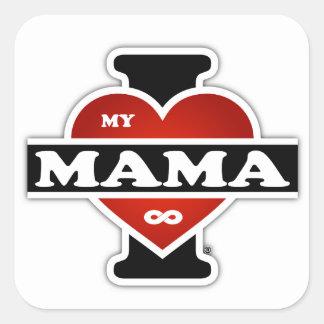 Amo a mi mamá To Infinity Pegatina Cuadrada