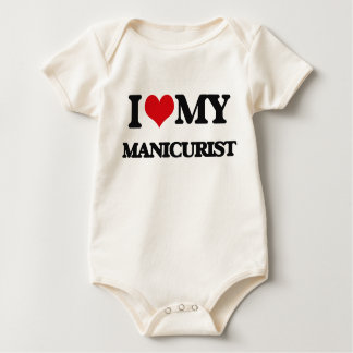 Amo a mi manicuro traje de bebé