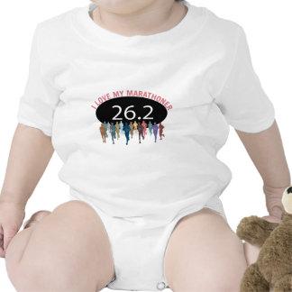 Amo a mi Marathoner Trajes De Bebé