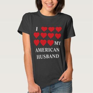 Amo a mi marido americano playera
