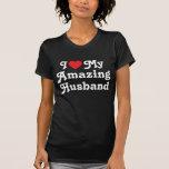 Amo a mi marido asombroso camisetas