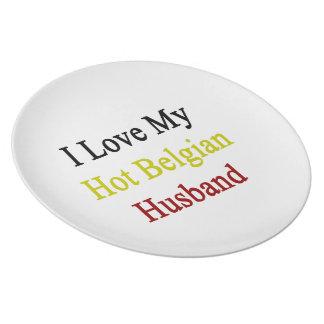 Amo a mi marido belga caliente platos de comidas