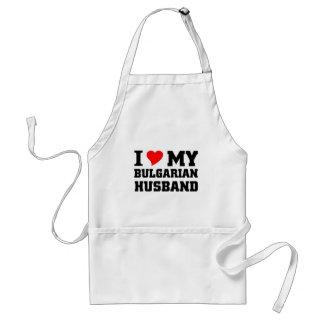 Amo a mi marido búlgaro delantal