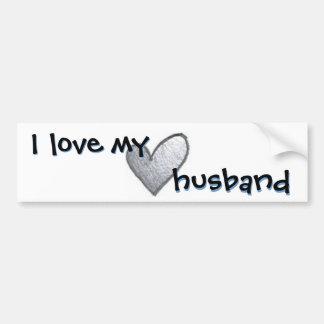 Amo a mi marido etiqueta de parachoque