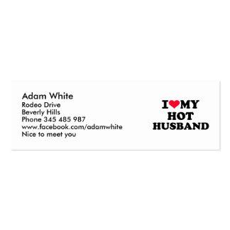 Amo a mi marido caliente tarjeta de visita
