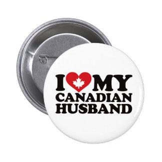 Amo a mi marido canadiense pin
