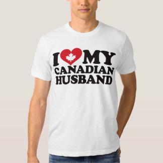 Amo a mi marido canadiense playeras