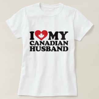 Amo a mi marido canadiense remeras