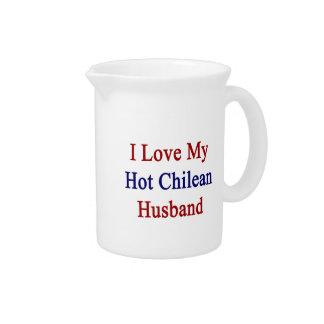 Amo a mi marido chileno caliente jarrón