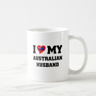 AMO A MI MARIDO DE AUSTRAILIAN TAZA DE CAFÉ