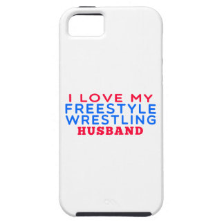 Amo a mi marido de la lucha de estilo libre iPhone 5 Case-Mate cárcasa