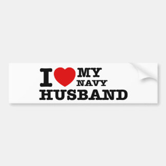 Amo a mi marido de la marina de guerra pegatina para auto