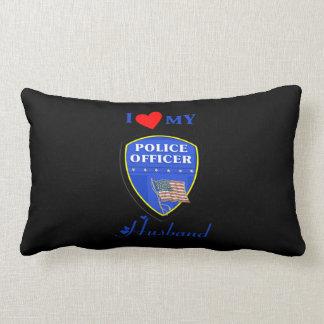 Amo a mi marido de la policía cojín