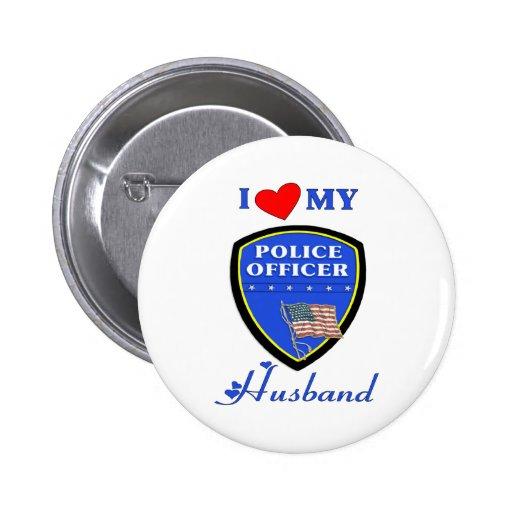 Amo a mi marido de la policía pins
