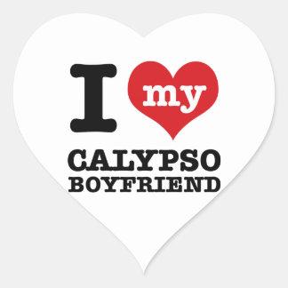 Amo a mi marido del Calypso Pegatina En Forma De Corazón
