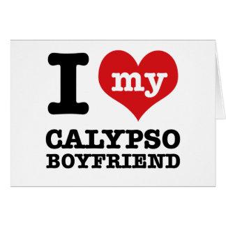 Amo a mi marido del Calypso Tarjeta De Felicitación