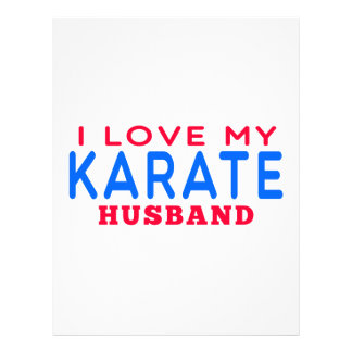 Amo a mi marido del karate membrete a diseño