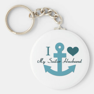 Amo a mi marido del marinero llaveros personalizados