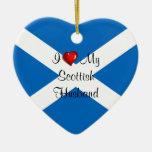 Amo a mi marido escocés adornos de navidad