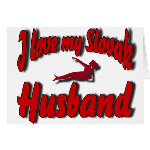 Amo a mi marido eslovaco - diseñado por Lucía Tarjeta De Felicitación