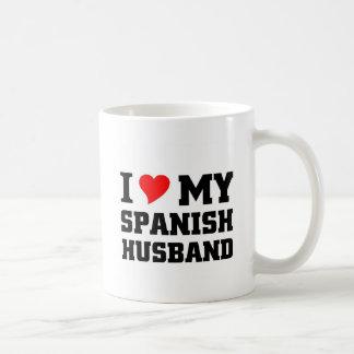 Amo a mi marido español taza de café