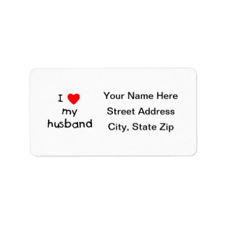Amo a mi marido etiquetas de dirección