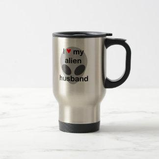 Amo a mi marido extranjero taza térmica