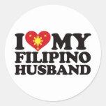 Amo a mi marido filipino etiquetas redondas