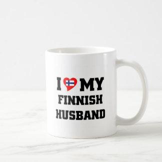 Amo a mi marido finlandés tazas