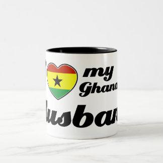 Amo a mi marido ghanés taza de dos tonos