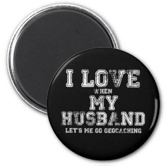 ¡Amo a mi marido! Imán Redondo 5 Cm