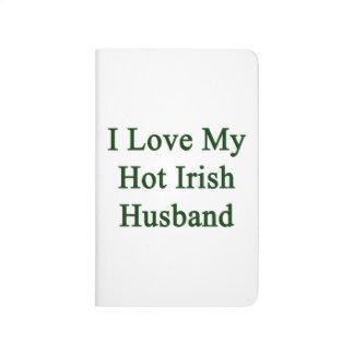 Amo a mi marido irlandés caliente cuadernos grapados