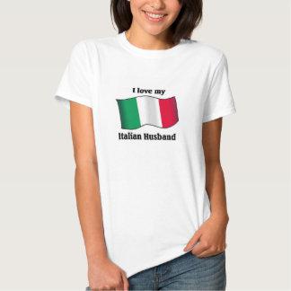 Amo a mi marido italiano remera