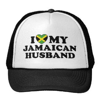 Amo a mi marido jamaicano gorros bordados